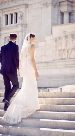 Suknia ślubna Pronovias Jadelyn plecy 36