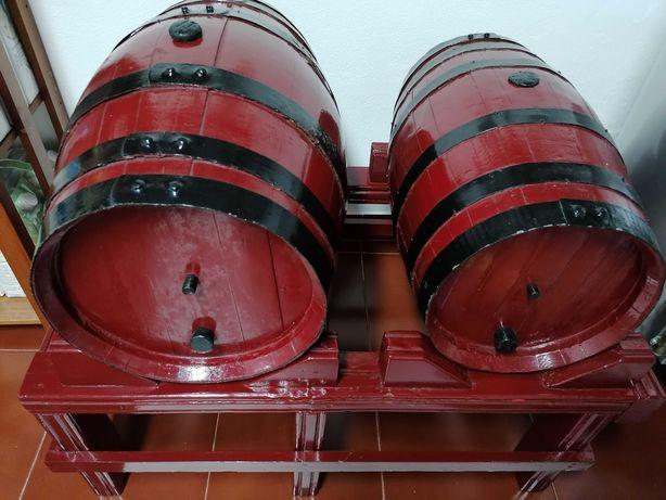 Bipas / Barris de vinho 30 e 25 litros + suporte base