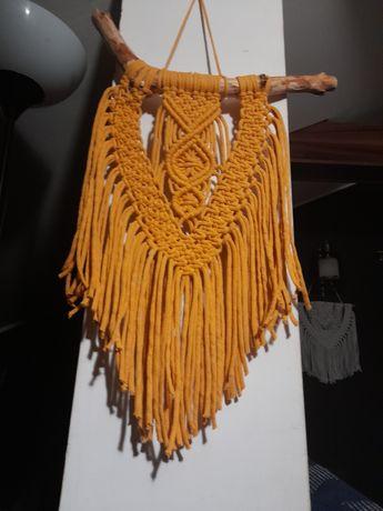 Makrama, dekoracja ścienna, sznurek