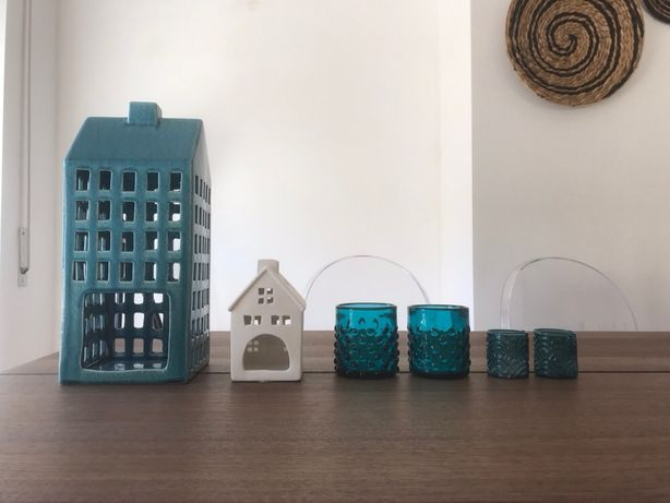 Porta-velas (H&M Home; Loja do Gato Preto; La Redoute; Espaço Casa)