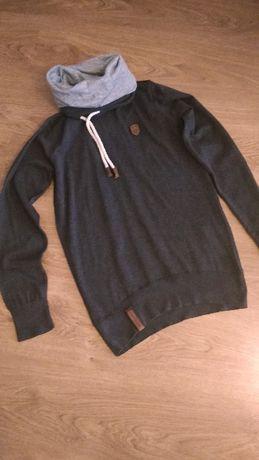 NAKETANO bluza sweter bawełna golf L