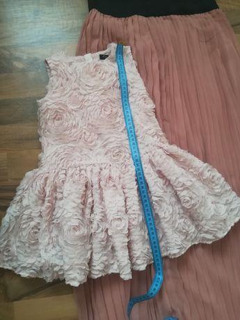 Плаття на дівчинку і спідниця плісе Фемілі лук мама дочка на 2-3рочки