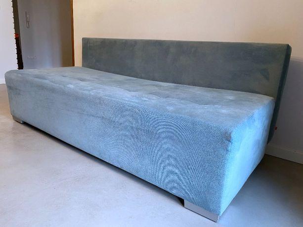 Rozkładana sofa black red white,1 rok, błękitna z opcją spania