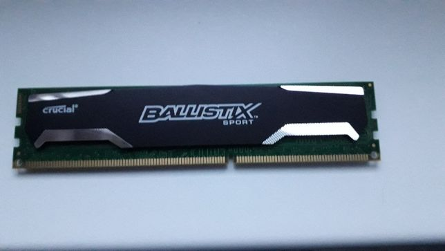 Pamięć Ballistix Sport, DDR3, 8 GB, 1600MHz, CL9 (BLS2CP8G3