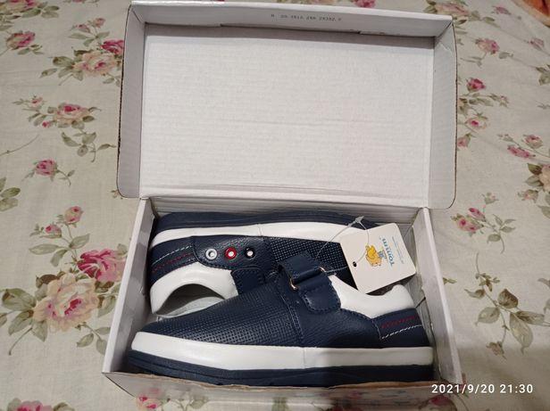 Кожаные туфли для мальчика Tom.m 29 р,18,5-19см стелька, мокасины