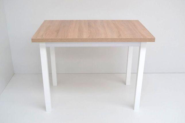 Stół Torpeda 100x60x32 Dąb Sonoma noga biała