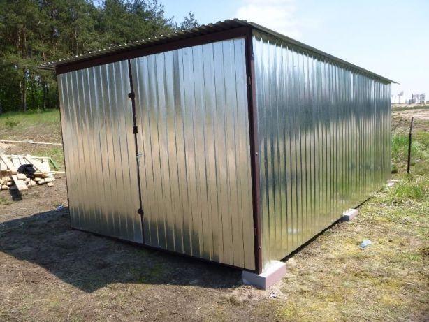 GARAŻ BLASZANY Schowek budowlany BLASZAK BUDOWA Garaże na budowę