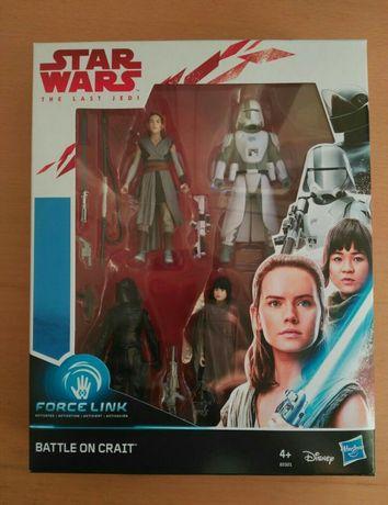Pack 4 figuras Star Wars (Guerra das Estrelas) - Rey, Rose, Stormtroop