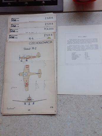 Zestaw planów samolotów