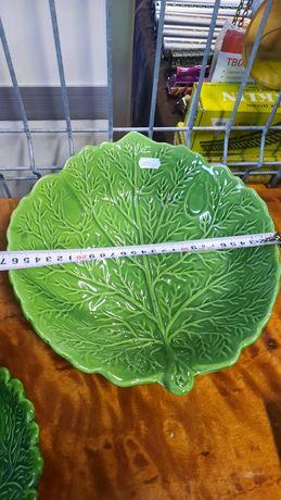 Stara duża miska z ceramiki zielona!