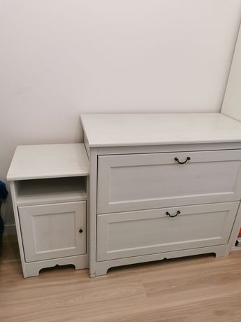 Zestaw komoda plus szafka nocna IKEA