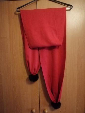 Продам новый шарф с меховыми бубонами