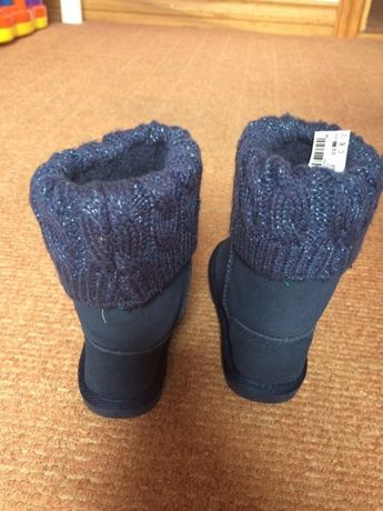 Zimowe buty Next nowe ciemny granat rozmiar 20, UK4 kozaki kozaczki