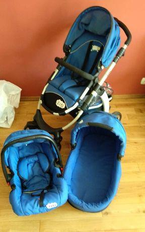 Wózek dziecięcy TITI - 3 w 1 (gondola, nosidełko, spacerówka)