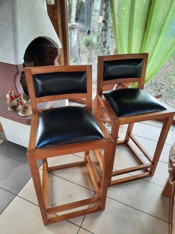 Hokery z pełnego drzewa krzesła barowe
