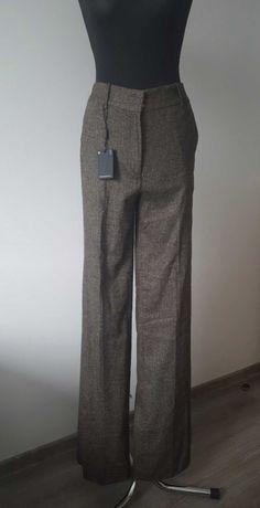 Massimo Dutti Eleganckie wełniane spodnie 36