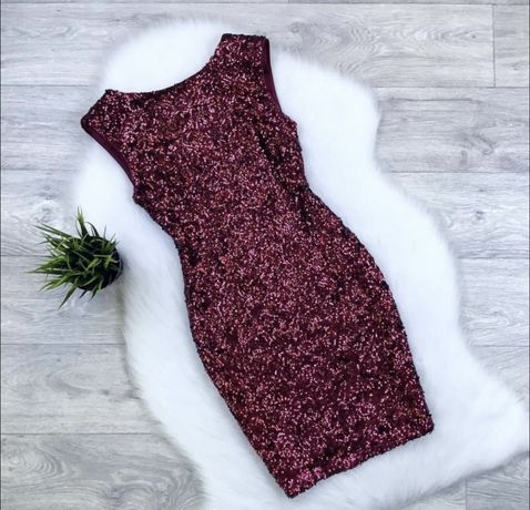 Платье пайетки zara bershka h&m new look