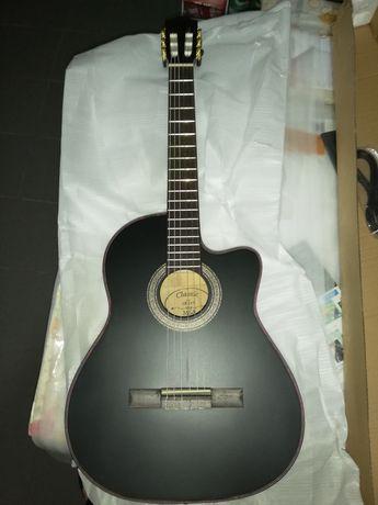 Kit guitarra eletroacústica de cordas de nylon