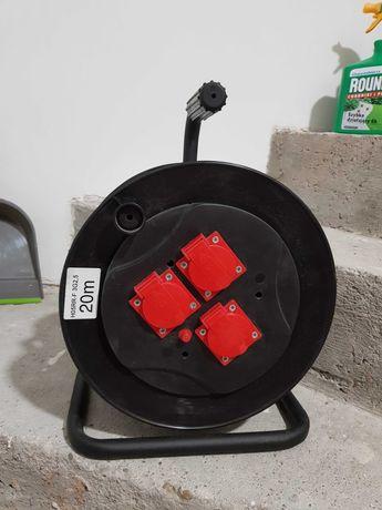 Nowy przedłużacz elektryczny bębnowy 3GN IP44 OW 3x2,5 20m ELGOTECH
