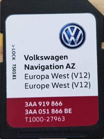 Najnowsza mapa RNS315 V12 2020 VW Skoda Seat Gwarancja.