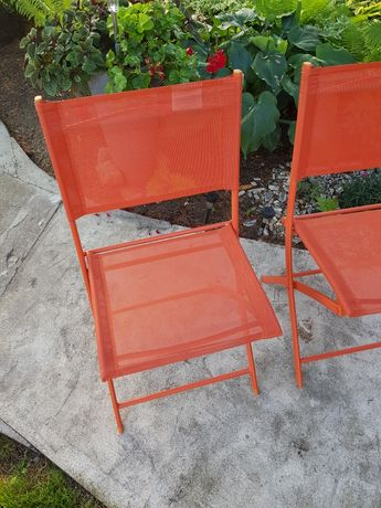 Krzesła ogrodowe balkonowe składane