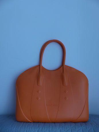 Torba jelly bag torebka plażowa shopper bag pomarańczowa jak obag