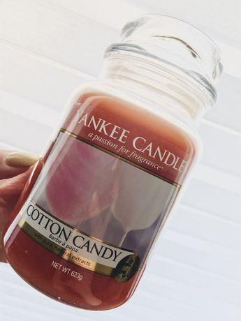 Yankee Candle cotton candy raz palona duża świeca zapachowa