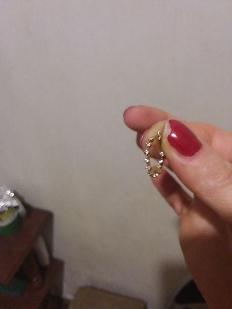 Kolczyki złote 585 cyrkonie