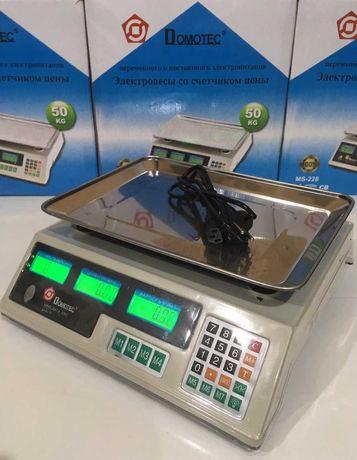 Весы торговые, электронные с дисплеем 50kg Domotec MS 228