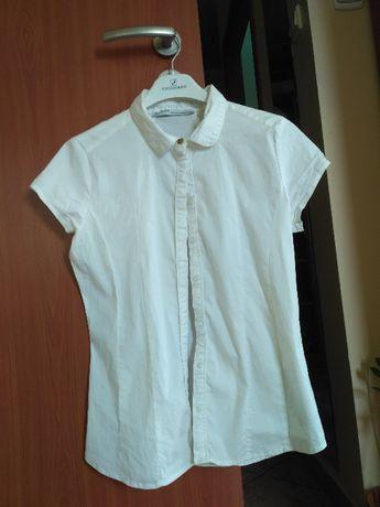 Biała elegancka koszula galowa z krótkim rękawem