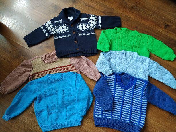Sweterki piekne chlopiece r 74-80-86