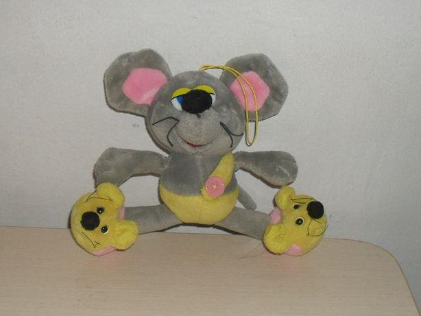 НОВАЯ плюшевая мышка проволочный каркас в ногах крыса мягкая игрушка