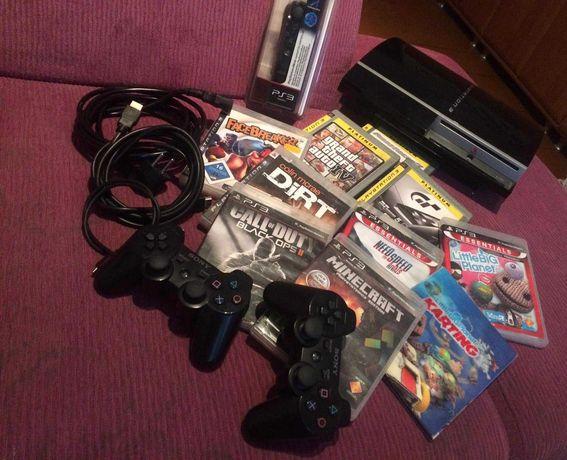 Sprzedam lub zamienię konsolę PLAYSTATION 3 duży zestaw Gra MINECRAFT