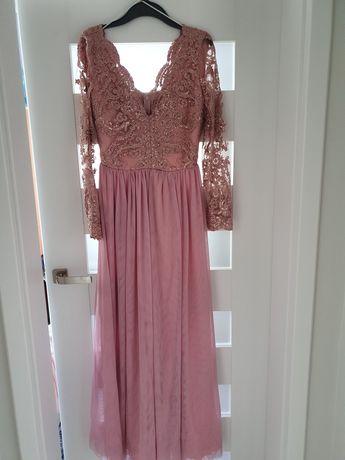 Długa suknia maxi