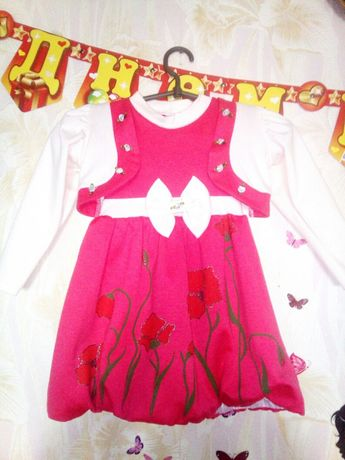 Платье с болеро, рост 98-104 см.
