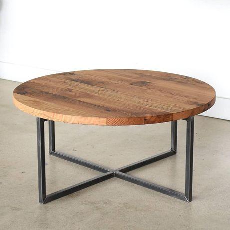 Nowoczesny stolik kawowy loft Prawdziwe Dębowe Drewno !!!