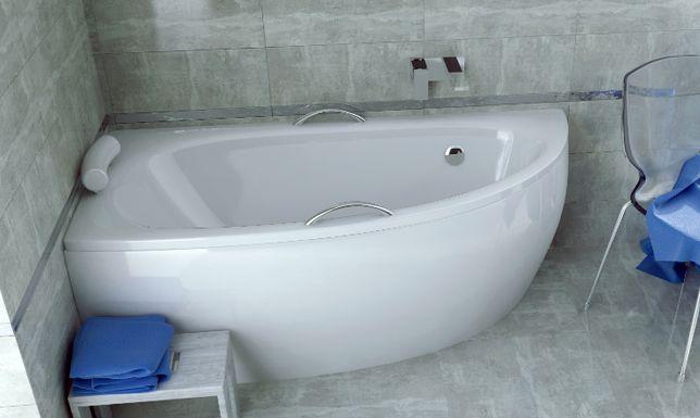 Акриловая асимметричная угловая ванна Бесплатная доставка по Украине