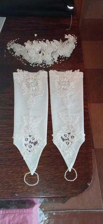 Свадебные аксессуары, веночек, перчатки