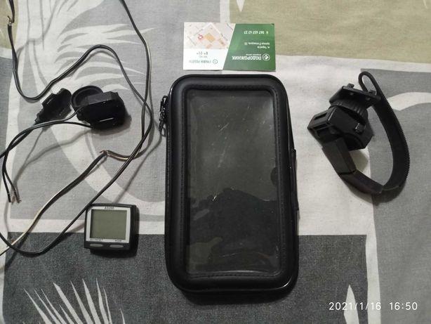 Чехол для телефона  и в подарок велокомпьютер