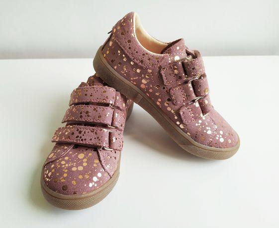 Nowe półbuty buty dziewczęce skórzane Mrugała Tala Lilac Spots r. 27
