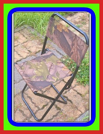 Krzesełko Składane Turystyczne (z Oparciem) mały