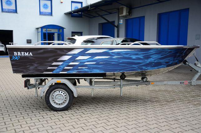 Łódź aluminiowa, łódka wędkarska Brema 390 V