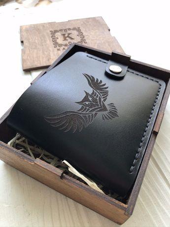 Шкіряний гаманець ручної роботи / Кожаный кошелек ручной работы