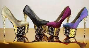 Лабутены туфли из кожи рептилий