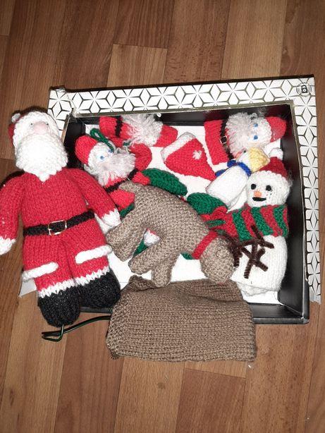 Набор новогодний, вязанные игрушек