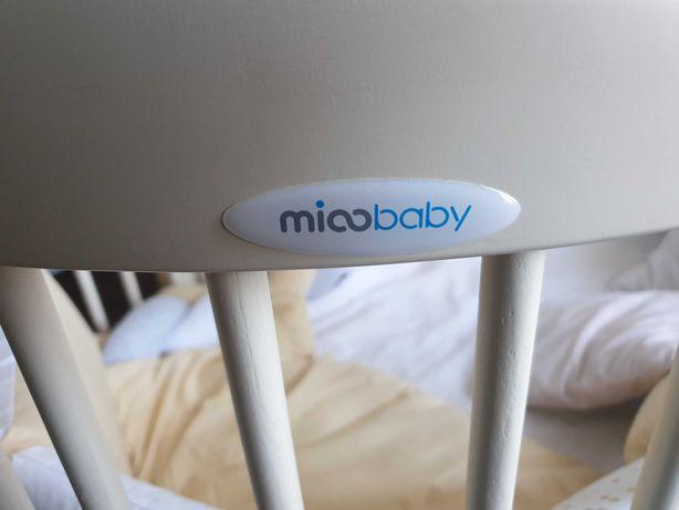 Детская круглая, овальная кроватка с двумя матрасами 7 в 1 mioobaby