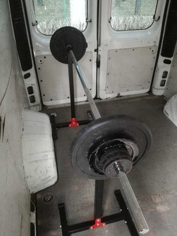 Sztanga 68kg gryf prosty 200cm 56kg obciążenia żeliwnego