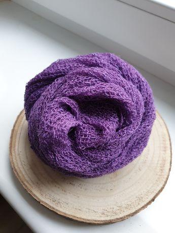 Owijka elastyczna newborn sesja noworodkowa fiolet