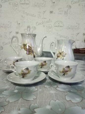 Продам сервіз кофейний Пташки на 4 персони,новий,розмір чашки100мл