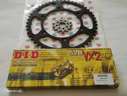 Kit Transmissao corr.DID X-Ring Kawazaki KX 250 de,KLX 250 R 1992 a 2005